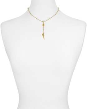 """Chan Luu - Cultured Freshwater Pearl Adjustable Necklace in 18K Gold-Plated Sterling Silver, 15"""""""