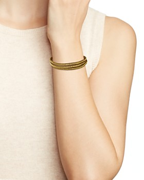 Chan Luu - Special Stones Wrap Bracelet in 18K Gold-Plated Sterling Silver