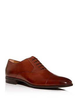 BOSS - Men's Kensington Leather Cap-Toe Oxfords