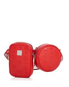 MCM - Essential Monogrammed Double-Pouch Convertible Belt Bag