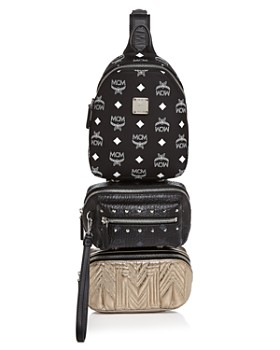 MCM - Trey Mixed Media Triple-Pouch Convertible Sling