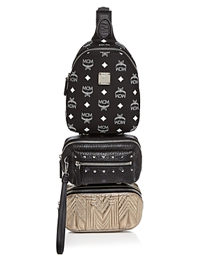 Mcm Trey Mixed Media Triple-Pouch Convertible Sling