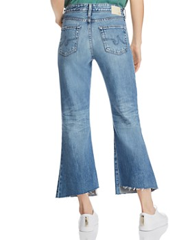 AG - Quinne High-Rise Crop Kick-Flare Jeans in 20 Years Haste Destructed