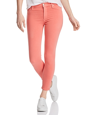 Hudson Jeans BARBARA HIGH-RISE ANKLE SKINNY JEANS IN FLAMINGO