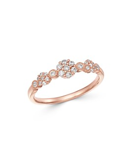 Bloomingdale's - Diamond Cluster Band in 14K Rose Gold, 0.25 ct. t.w. - 100% Exclusive
