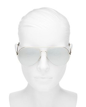 MARC JACOBS - Women's Marc Daisy Brow Bar Aviator Sunglasses, 58mm