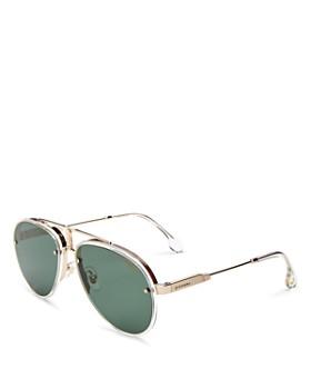 Carrera - Unisex Glory Brow Bar Aviator Sunglasses, 58mm