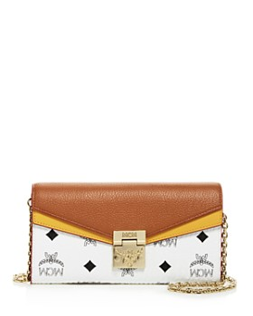 MCM - Patricia Visetos Leather Chain Wallet
