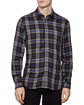REISS - Ennis Checked Slim Fit Button-Down Shirt