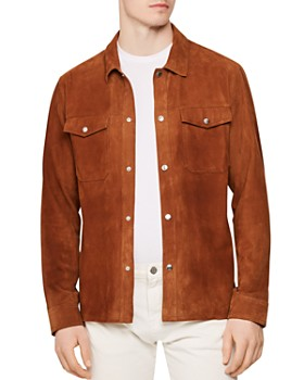 REISS - Mick Suede Relaxed Fit Shirt