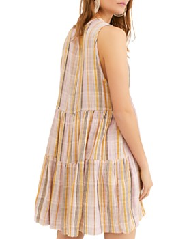 Free People - Freebird Striped Tiered Dress