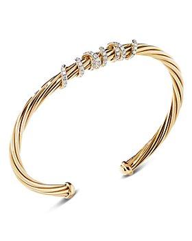 David Yurman - 18K Yellow Gold Helena Center Station Bracelet with Diamonds
