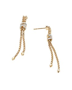 David Yurman - 18K Yellow Gold Helena Chain Earrings with Diamonds