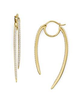 Nadri - Curved Spike Hoop Earrings