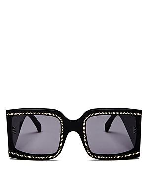 Celine Women's Oversized Embellished Square Sunglasses, 60mm