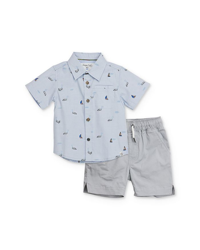 Sovereign Code - Boys' Nautical Camp Shirt & Shorts Set - Baby