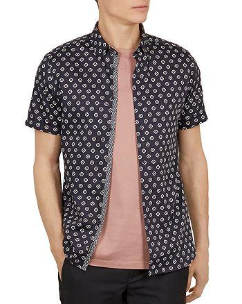 Ted Baker - Haguee Geo Print Slim Fit Shirt