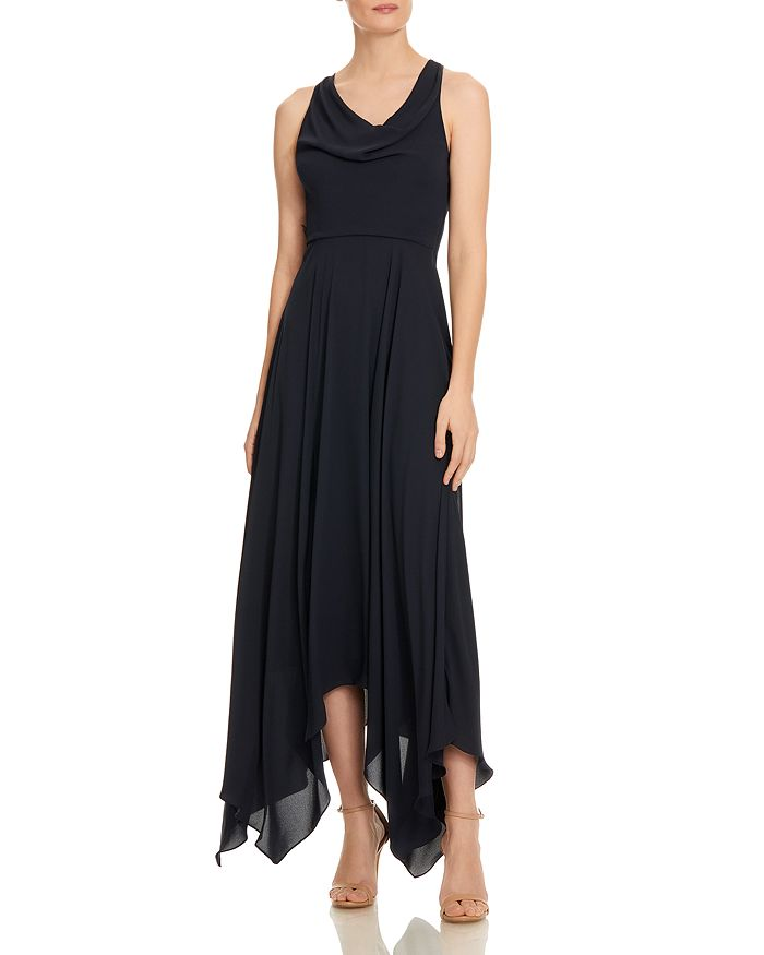 HALSTON - Cowl-Neck Georgette Gown