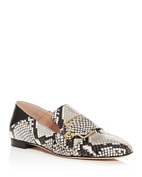 Bally - Women's Maelle Snake-Embossed Square-Toe Loafers