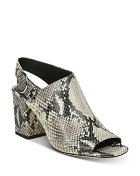 bdc99a5a12 Via Spiga - Women's Elma Block Heel Slingback Sandals ...