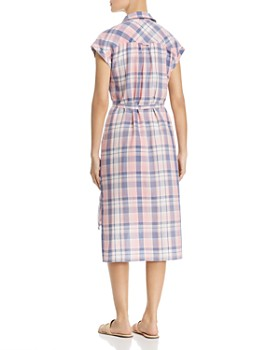 Billy T - Plaid Button-Front Midi Dress