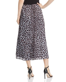 PAIGE - Delfina Blue Ice Leopard-Print Midi Skirt - 100% Exclusive