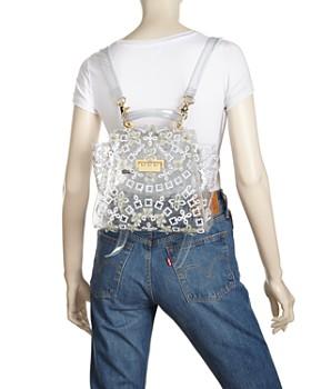 ZAC Zac Posen - Eartha Floral Appliqué Clear Convertible Backpack