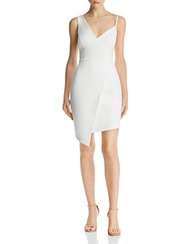 BCBGMAXAZRIA - Asymmetric Faux-Wrap Dress - 100% Exclusive