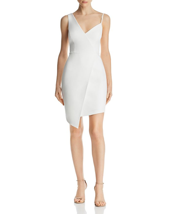 BCBG - Asymmetric Faux-Wrap Dress - 100% Exclusive