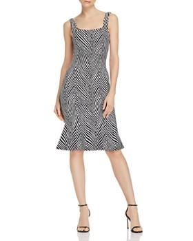 Ronny Kobo - Shondra Zebra-Print Midi Dress