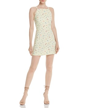 d29303967fb7 FRENCH CONNECTION - Whisper Floral-Print Mini Dress - 100% Exclusive ...