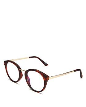 Quay - Unisex Gotta Run Round Blue Light Glasses, 51mm