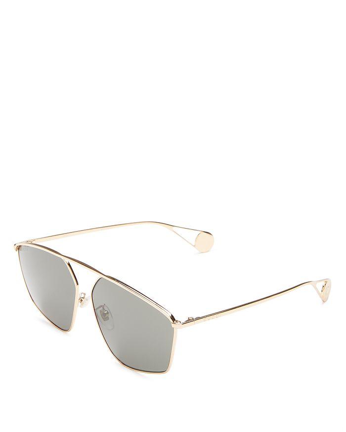 Gucci - Women's Brow Bar Square Sunglasses, 60mm