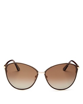 Tom Ford - Women's Penelope Polarized Cat Eye Sunglasses, 59mm