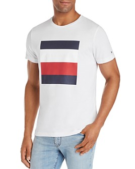 Tommy Hilfiger - Embossed-Logo Box Graphic Tee