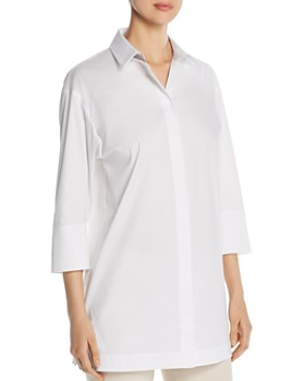 9c8d840a261 Lafayette 148 New York - Wade Collared Tunic Blouse ...
