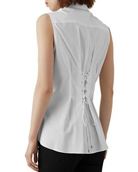 KAREN MILLEN - Pleated Lace-Up Shirt