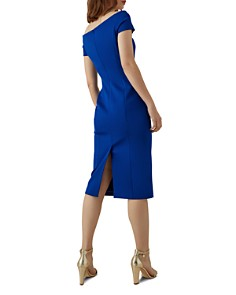 KAREN MILLEN - Pleated-Waist Sheath Dress