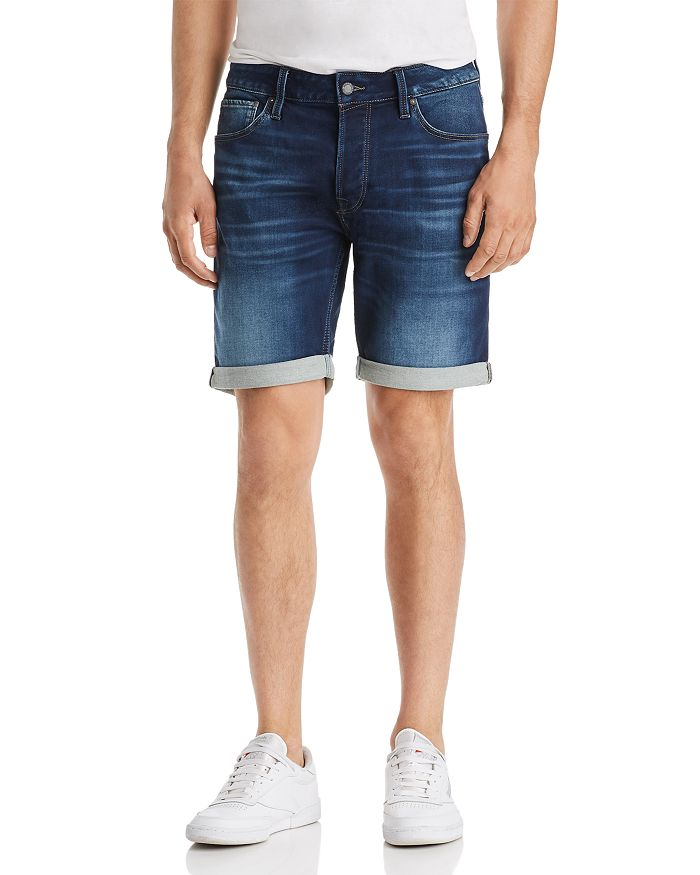 JACK + JONES - Icon Regular Fit Denim Shorts in Blue
