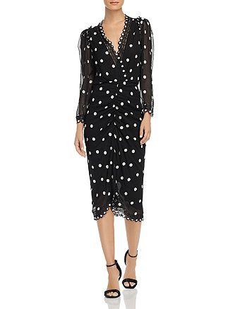 Rebecca Taylor - Dot Embroidered V-Neck Dress