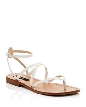 7675b8f8c5dd AQUA - Women's Sand Strappy Thong Sandals - 100% Exclusive ...