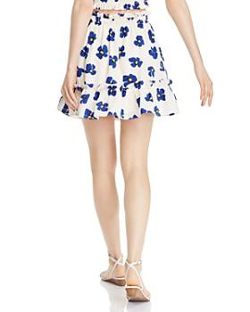 AQUA - Ruffled Floral Skirt - 100% Exclusive