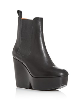 Clergerie - Women's Beatrice Platform Wedge Booties
