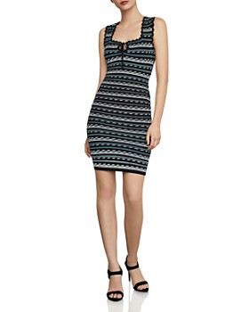 BCBGMAXAZRIA - Striped Body-Con Dress