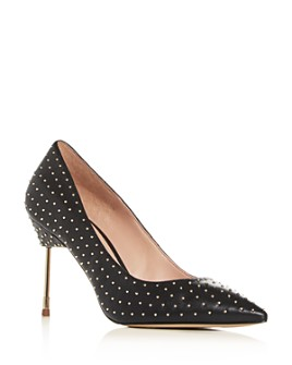 Kurt Geiger - Women's Britton Studded Pointed-Toe Pumps