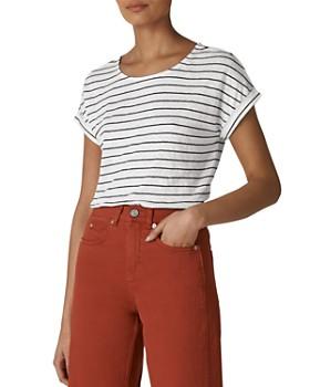 Whistles - Striped Linen Tee