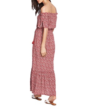 1.STATE - Floral Off-the-Shoulder Maxi Dress