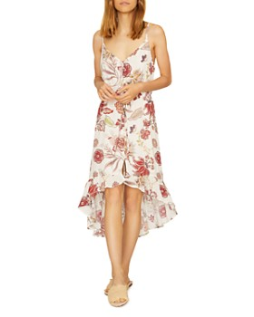 Sanctuary - Floral-Print High/Low Dress