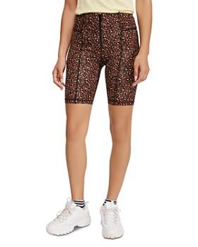 Free People - Lucky Strike Leopard-Print Bike Shorts