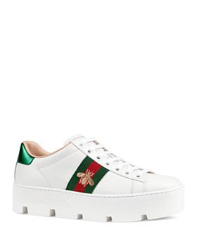 0b25c5156be Gucci - Women s Ace Embroidered Platform Sneakers ...